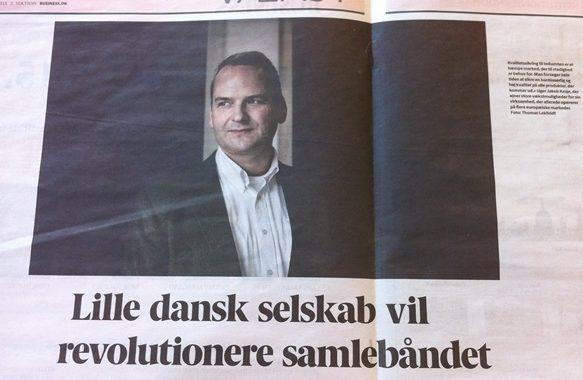 CEO Jakob Kesje fra IVISYS i Berlingske Business medium